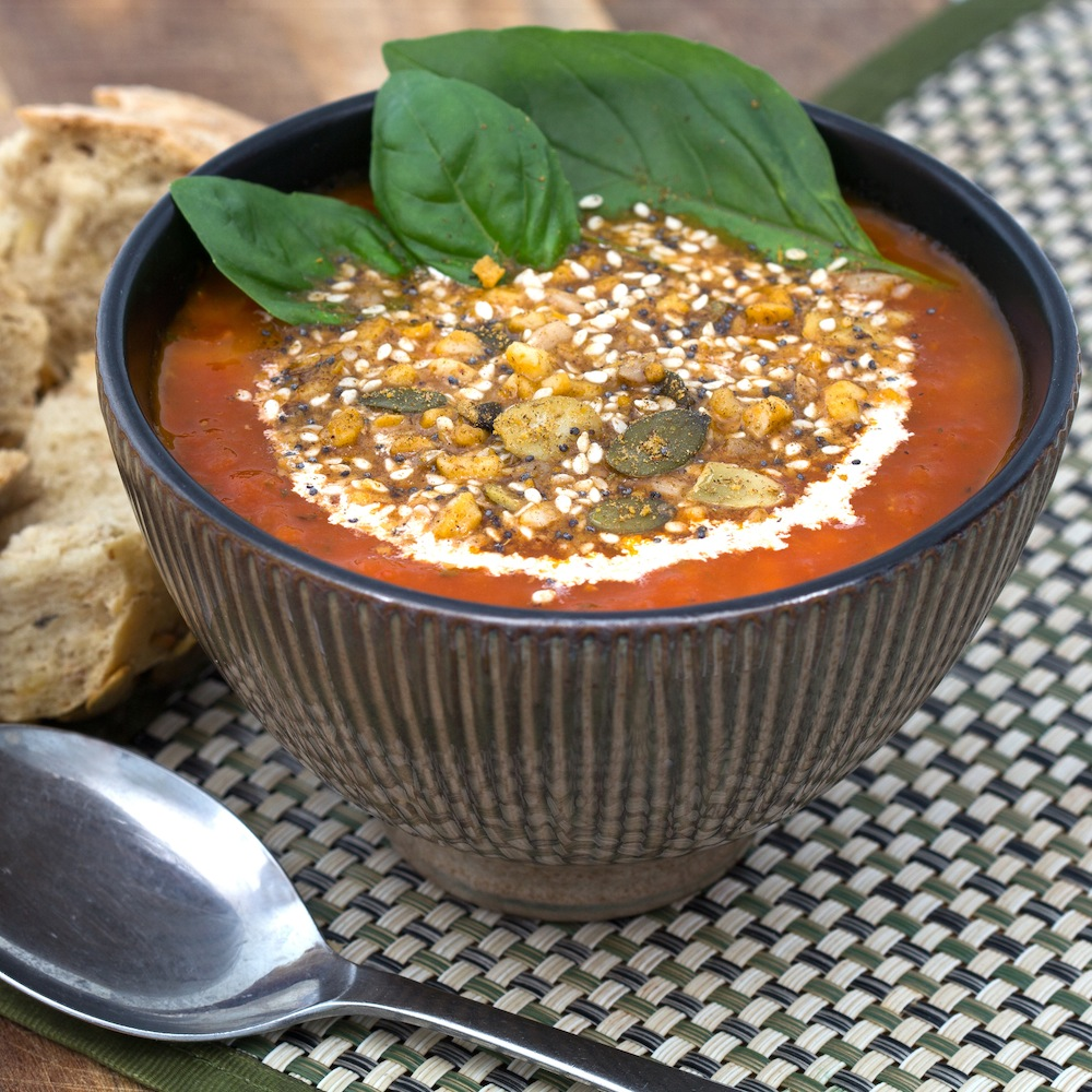Tomato Soup Dukkah Topping